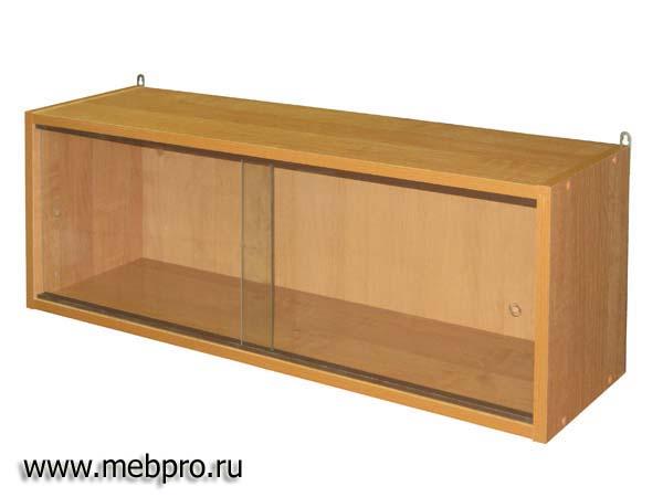 Полка книжная с раздвижными стёклами п-315 (стар. арт.п-02-1.